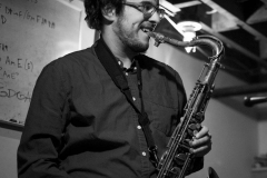 JimiLab Alum Andrew Hortwitz (now representing McGill) on his horn.